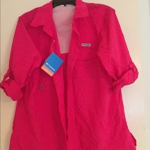 New With Tags! Hot Pink Columbia Sportswear Shirt